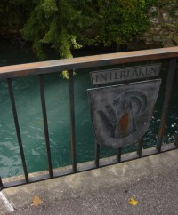 Interlaken crest on a bridge over the river