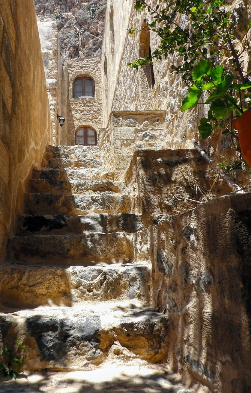 Photo of Stone stairway at Peloponnese.