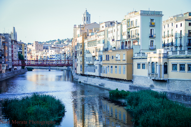 Girona river views of historic center