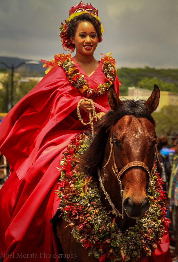 A Gorgeous Pau rider at a Hawaii parade