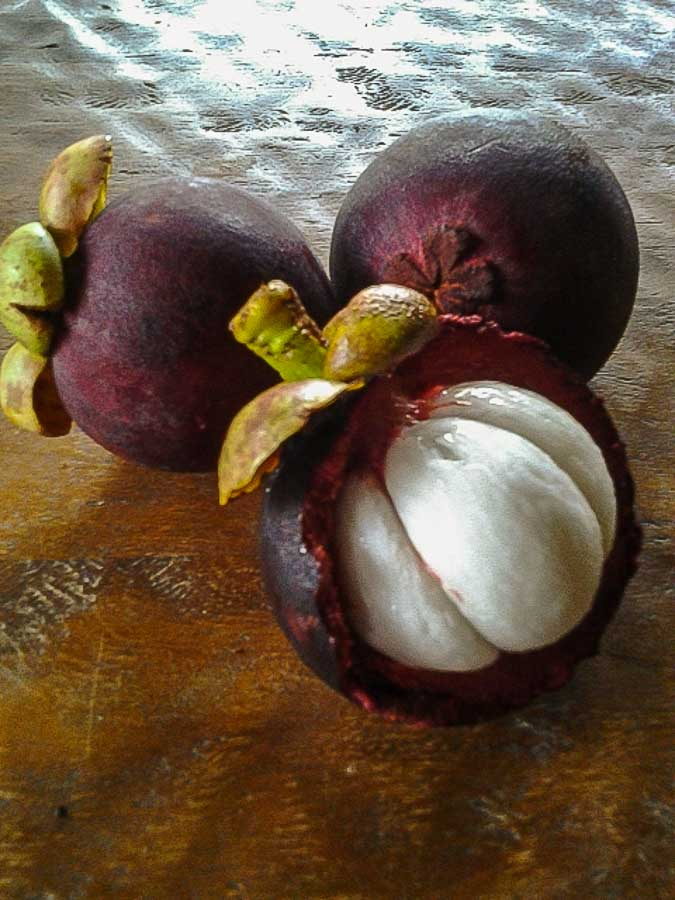 mangosteen Tropical fruit from Hawaii
