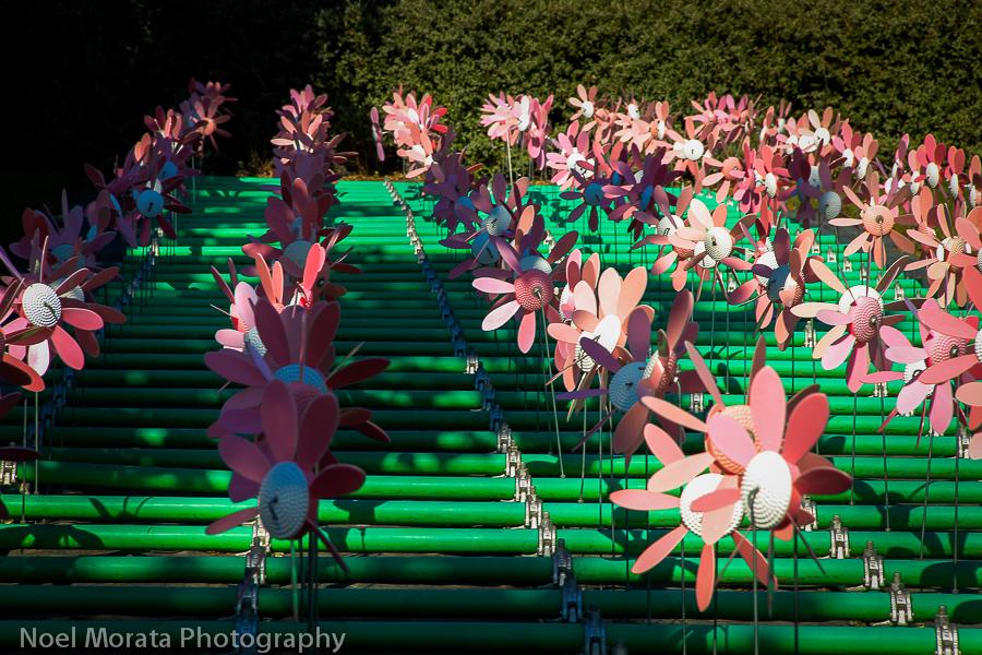 Giant pinwheel installation