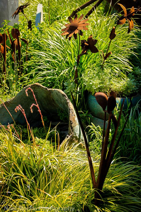 Garden art in a beautiful setting