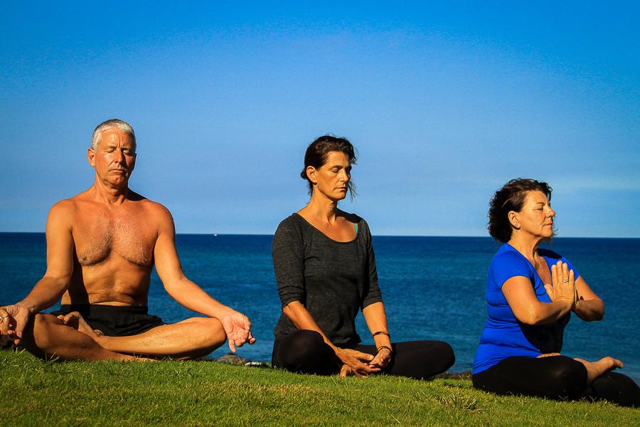 Yoga in Hawaii resort style