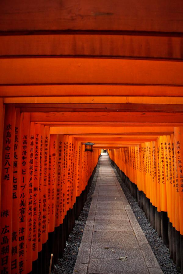 Red torii details