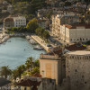 Scenic view of Split and harbor area