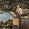 Scenic view of Split and harbor area