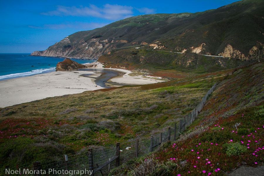Big Sur - a sandy beach cove and stream bed