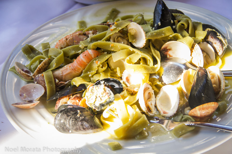 Dalmatian mixed seafood with fresh pasta