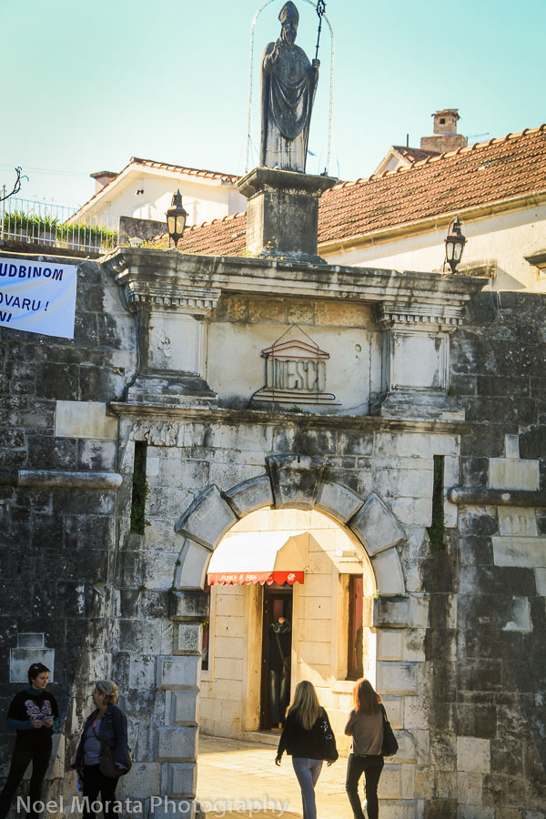 The main city gate of Trogir in Croatia