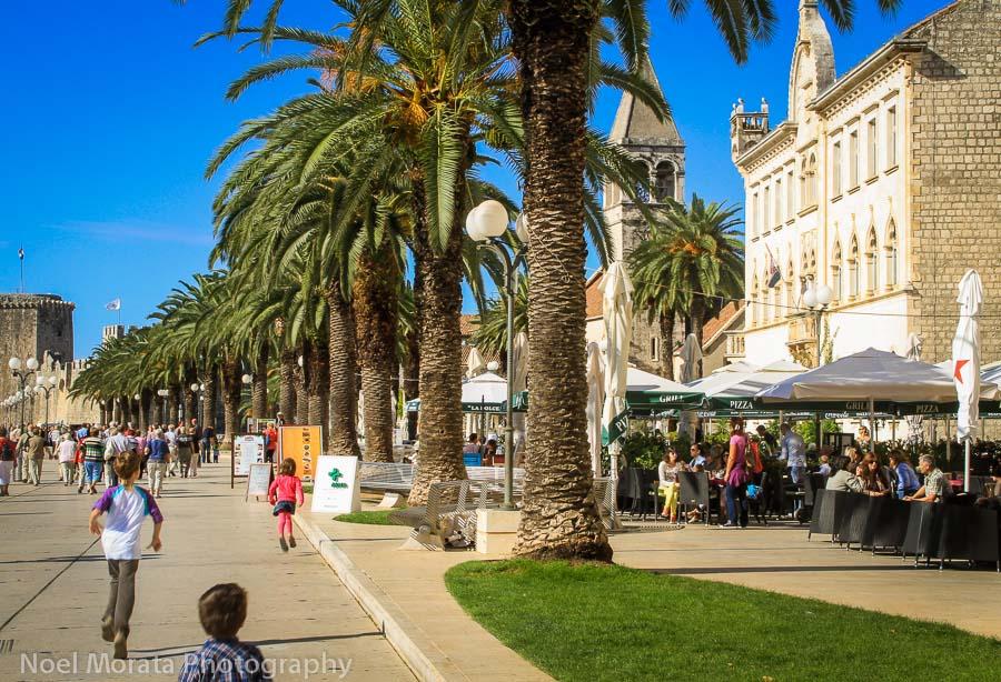 Trogir Marina and promenade