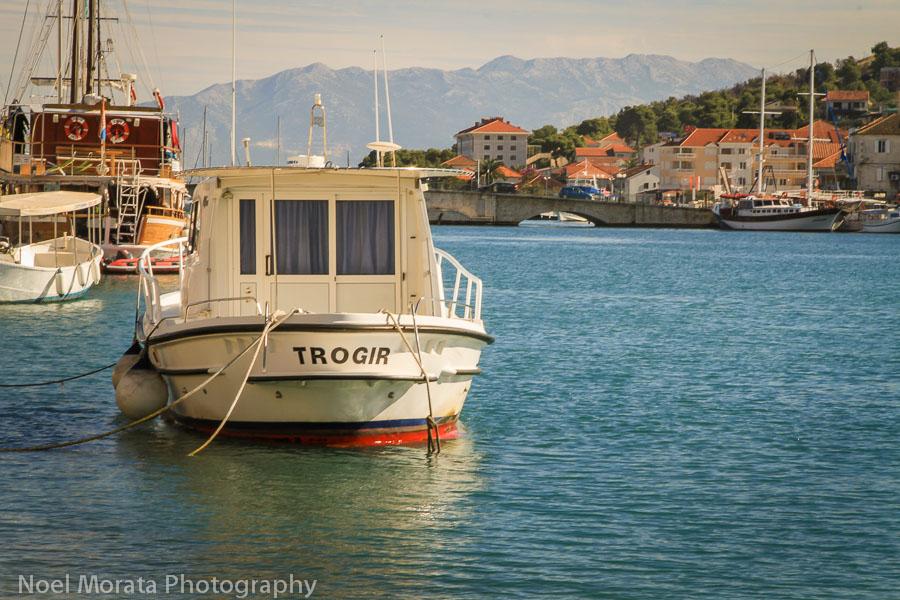 Trogir marina and mainland