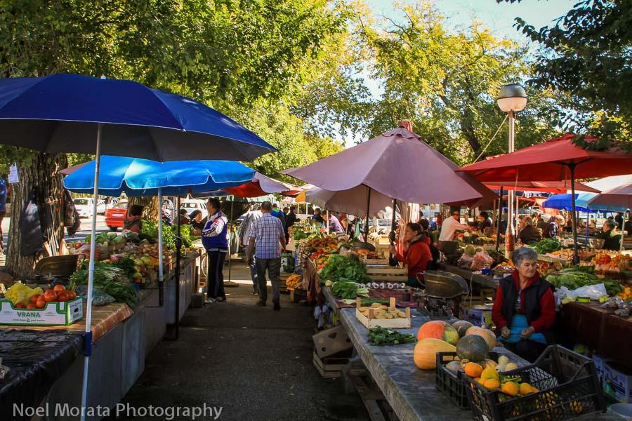 Trogir farmers market