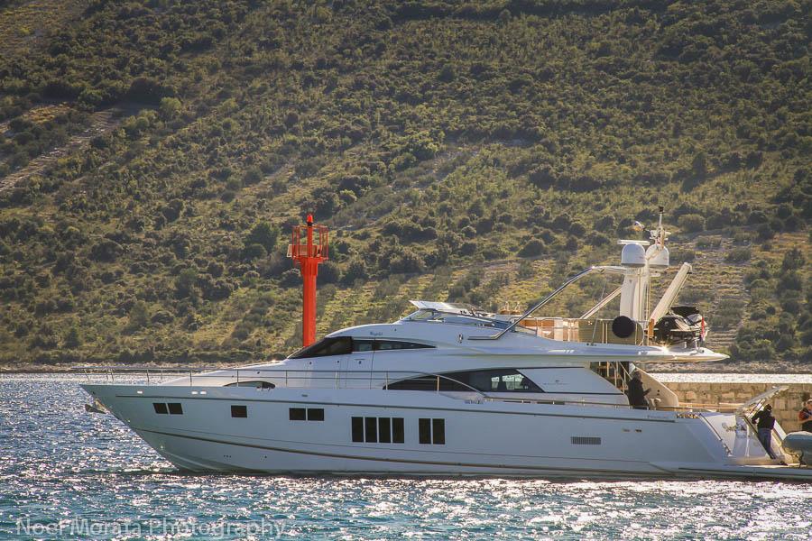 A luxury liner docked in Primosten