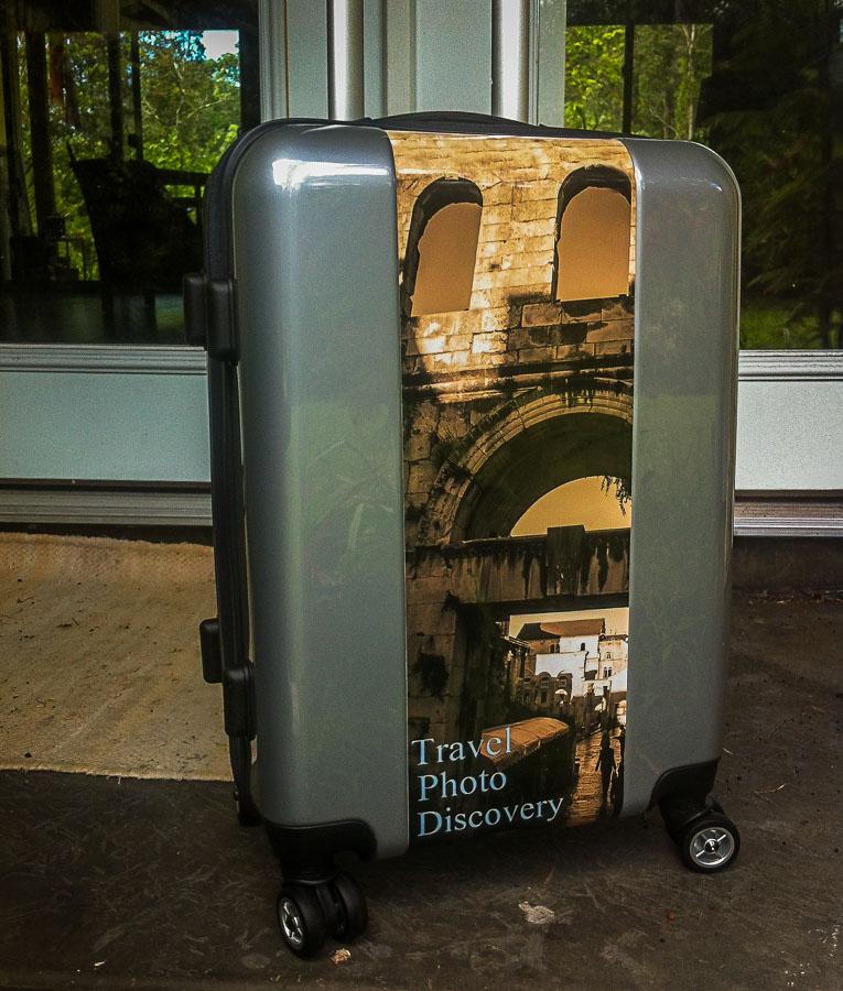 The Travel Photo Discovery custom luggage