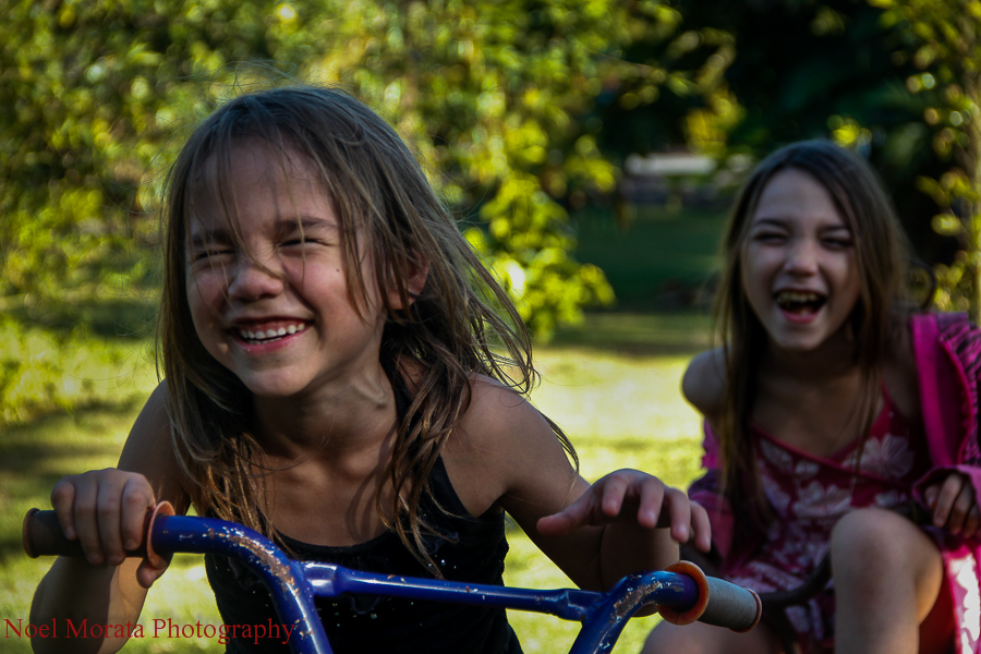 Fun portrait session with children