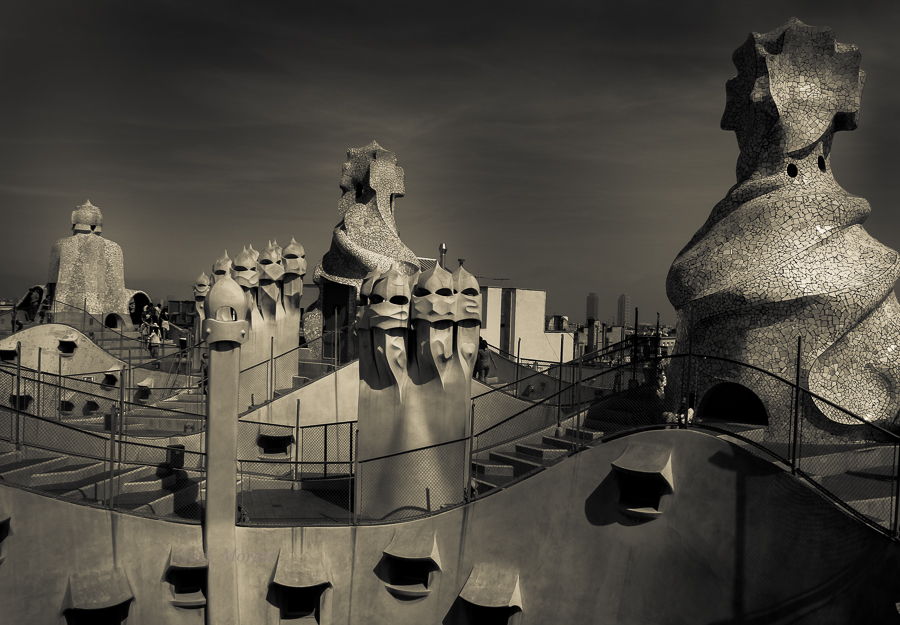 Gaudi's Casa Mila in Barcelona, Spain