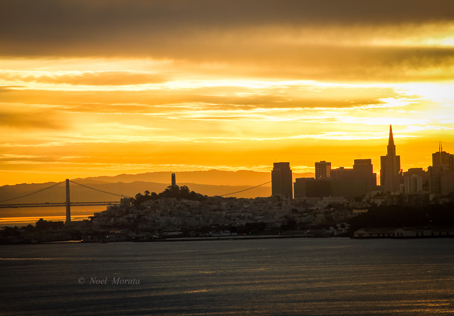 Cool places to visit in San Francisco including sunrise in the city