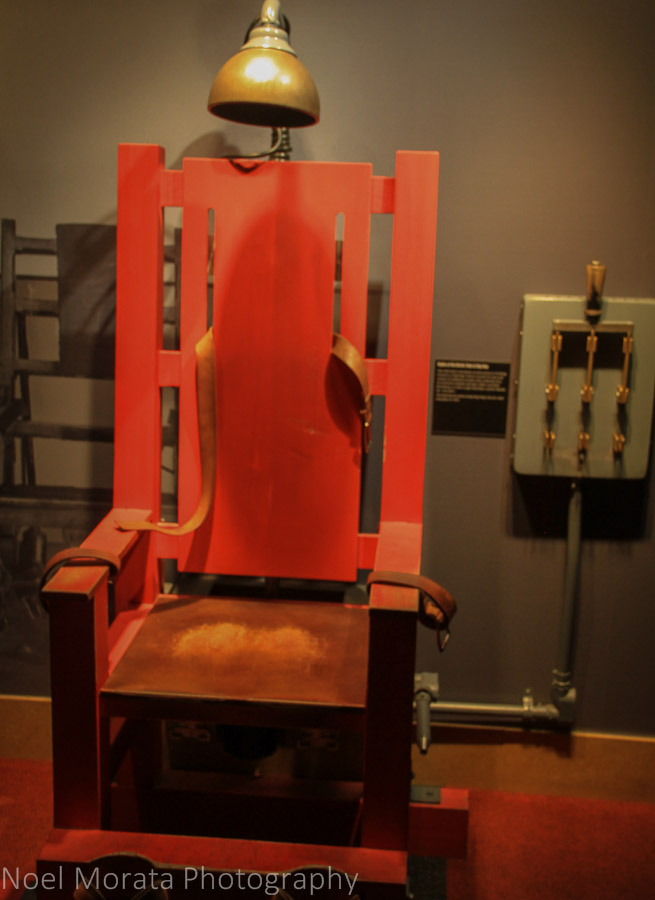 The electric chair at the Mob Museum