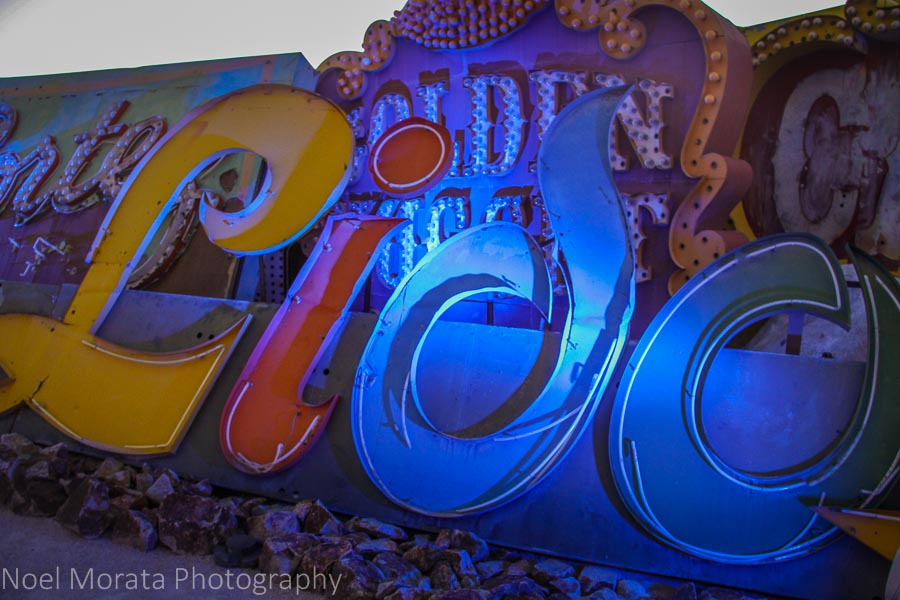 The iconic Lido sign at the Neon Museum