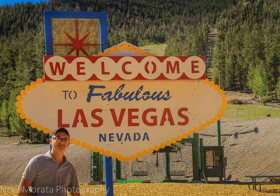 Photo op with the Welcome Las Vegas sign