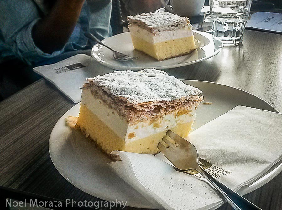 The Bled cream cake = heavenly