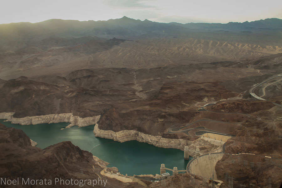 Another view of Hoover Dam from above