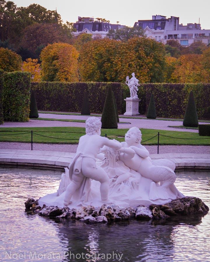 Animated sculpture of Children at the Belvedere gardens in Vienna