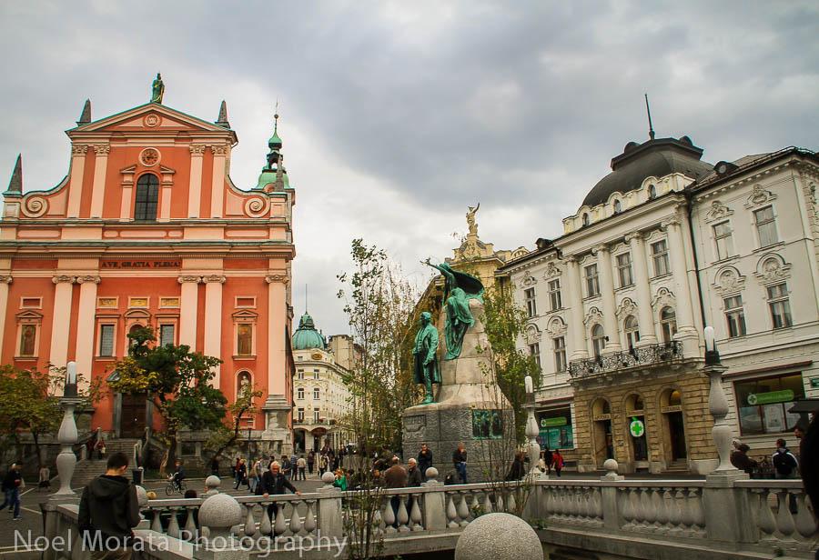 Ljubljana historic center and cathedral