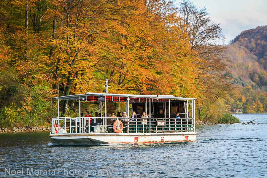 Cruising the main lower lake at Plitvice National park