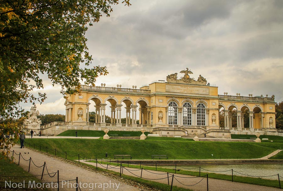 The Gloriette was the monument at the crest of a hill overlooking Schonbrunn