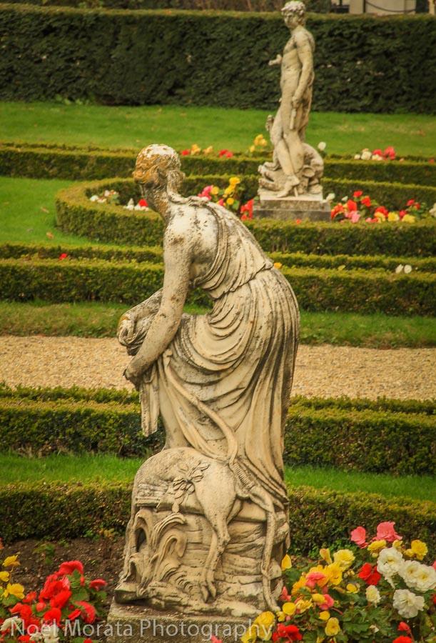 A side garden with summer annuals at Schonbrunn