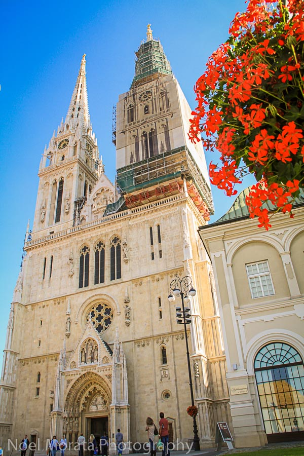 The exterior facade of Zagreb Cathedral