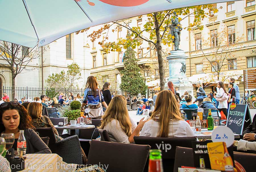 Hanging out at Floral Square, Zagreb