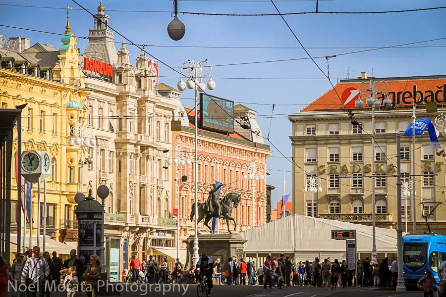Main square at Zagreb, Ban Jelačić Square