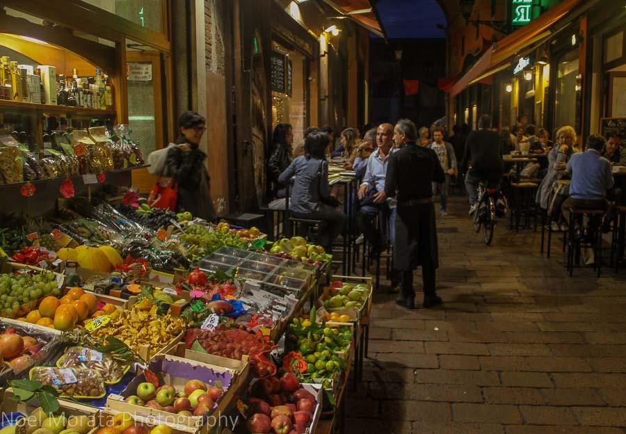 The Quadrilatero market area in Bologna's historic center