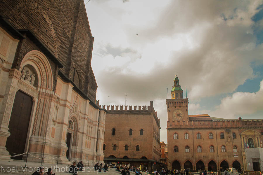 The cathedral and Piazza Maggiore in Bologna