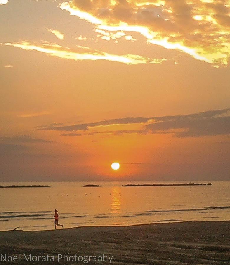 Sunrise in Cesenatico, Italy