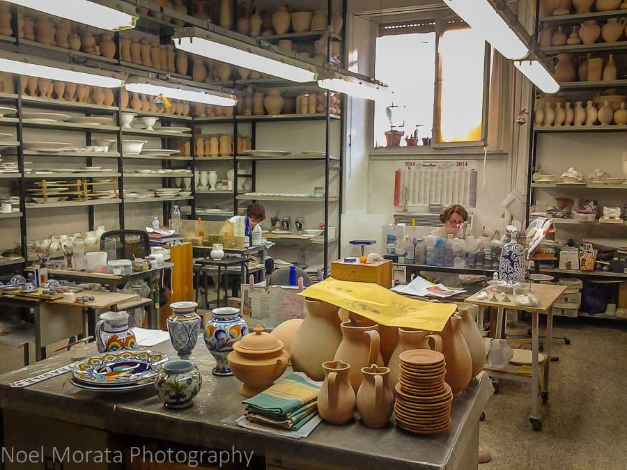 Faenza ceramic studios and galleries