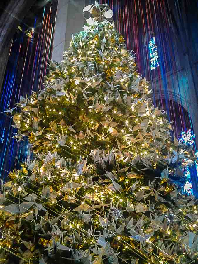 1000 cranes at Grace Cathedral