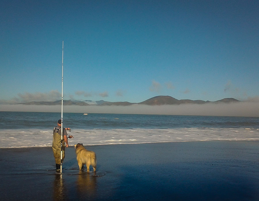 Fishing for crabs in San Francisco