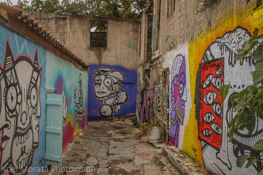 Athens street art in the Plaka district
