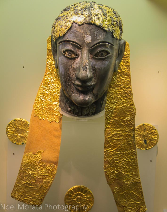 Golden adornments from the historical site at Delphi