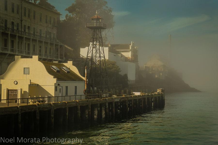 Arriving Alcatraz on a foggy morning