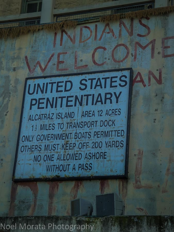 Entry signage at Alcatraz prison