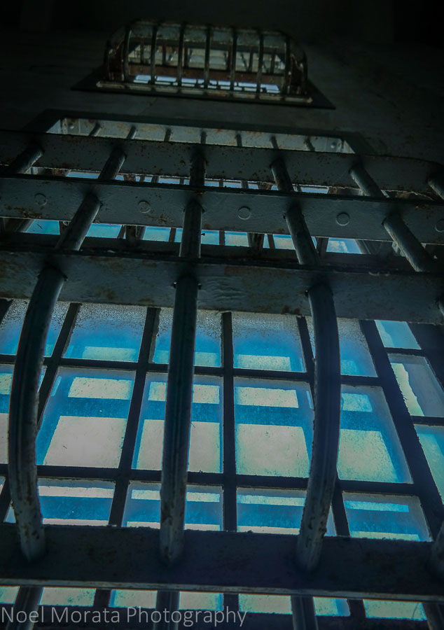 Steel iron windows at Alcatraz
