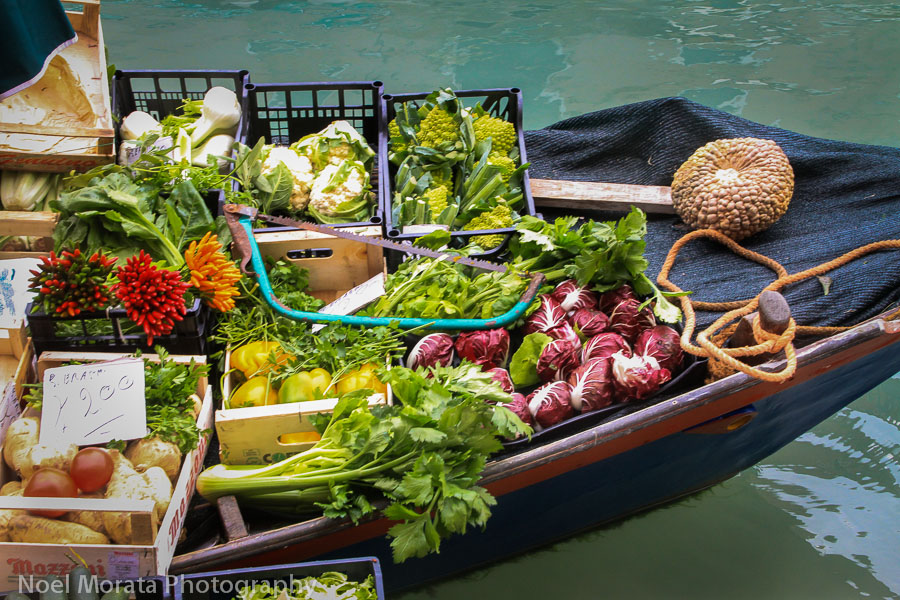 Murano fresh vegetables via boat