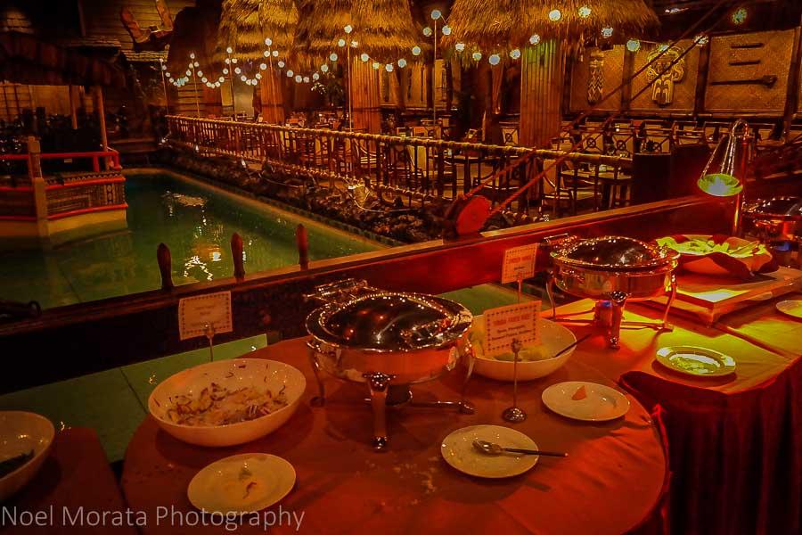 Pupu appetizer buffet at the Tonga room
