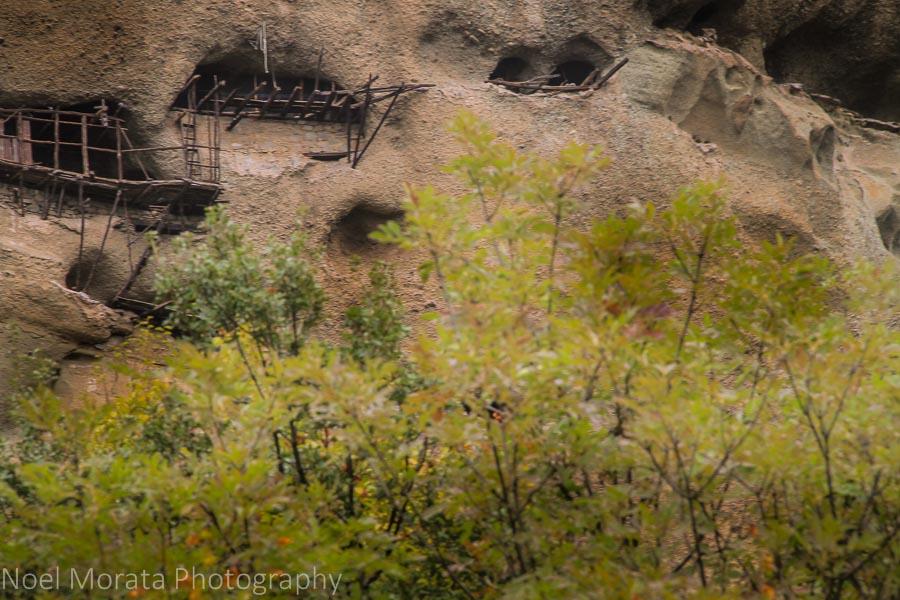 Hermit dwellings of early Christians in Meteora