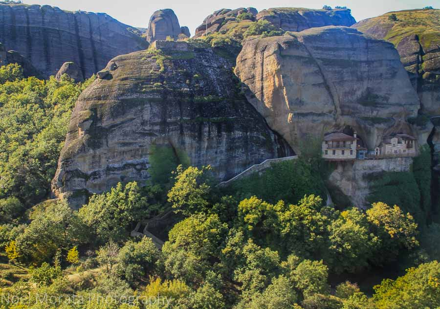 Views of mountains and monasteries of Meteora